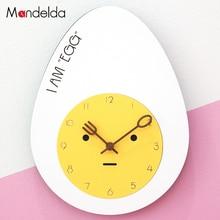 Mandelda Wall Clock Home Decoration Accessories Modern Cute Cartoon Childrens Pattern Large Decorative Clocks