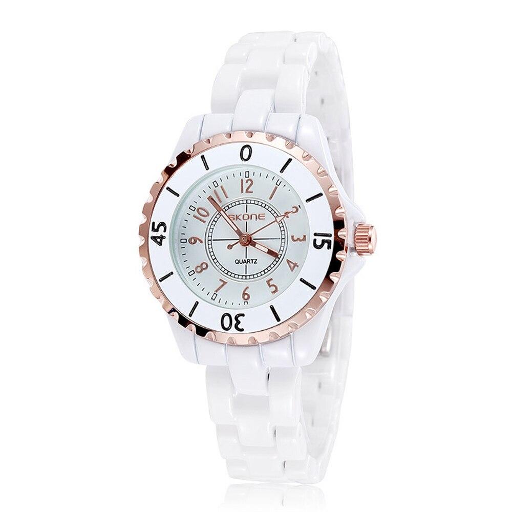 SKONE 7241-1 Fashion Analog Quartz Women Watches Gorgeous Waterproof Ceramic Ladies Wattch Women Wristwatch Clock Reloj Mujer