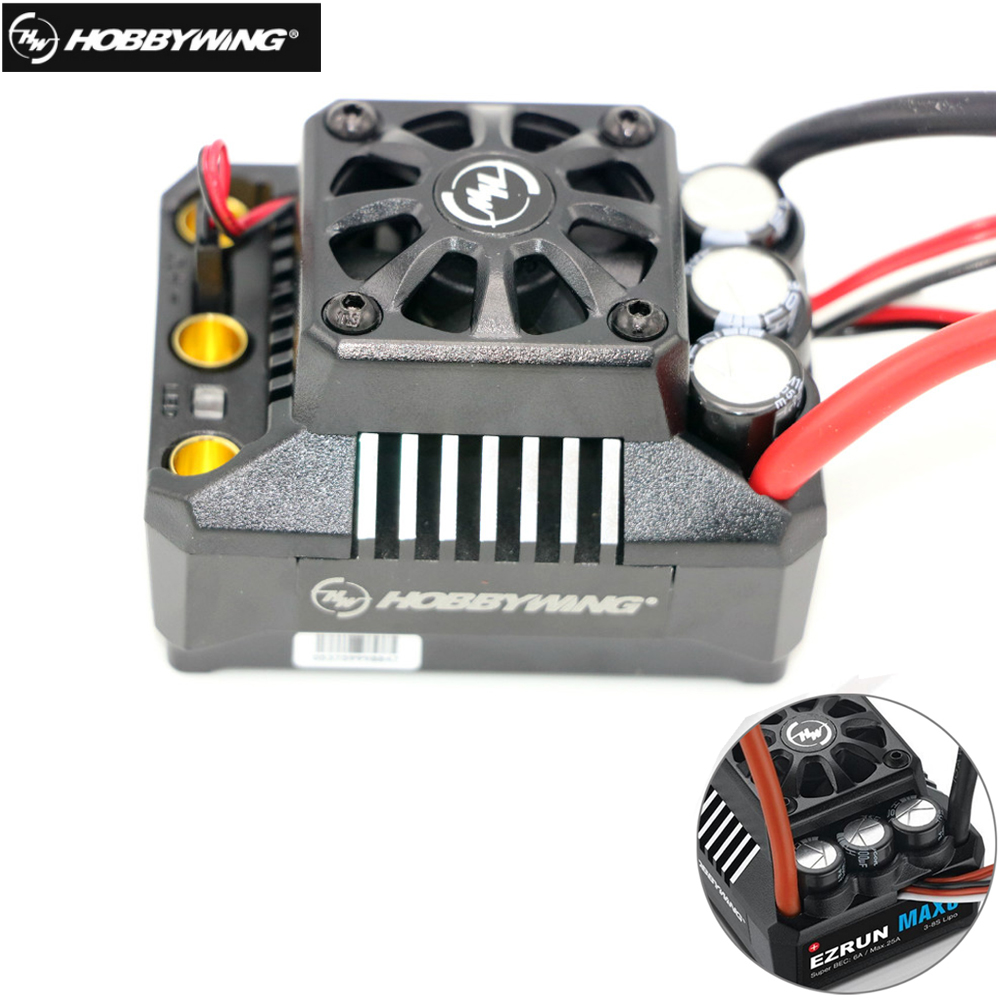 Hobbywing EzRun Max6 V3 160A Speed Controller Waterproof Brushless ESC XT60  / TRX Plug For 1/6 RC Car