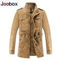JOOBOX Бренд Кожаные Куртки Мужчины 2016 Новая Мода PU Мотоцикла Кожаная Куртка Мужская Утолщение jaqueta де couro masculina