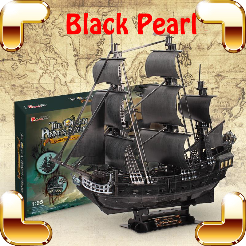 Udgrade Gift Black Pearl 3D Puzzle Adult Model Ship Movie History Pirate High Level Assemble Game Toys DIY Collection Decoration puzzle 1000pcs oil painting adult toys child gift jigsaw party game paper environmental protection headstart decompression