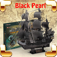 Udgrade Gift Black Pearl 3D Puzzle Adult Model Ship Movie History Pirate High Level Assemble Game Toys DIY Collection Decoration