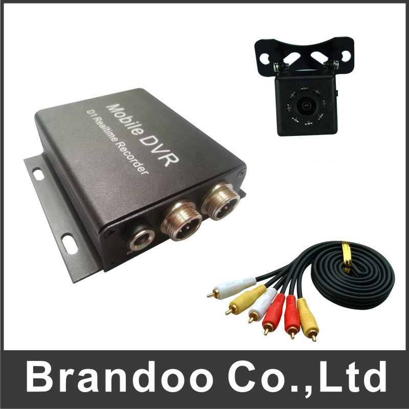 Hot sale 1 channel TAXI DVR kit, including 2pcs DVR+2PCS CAMERA+2PCS Video cable,MDVR