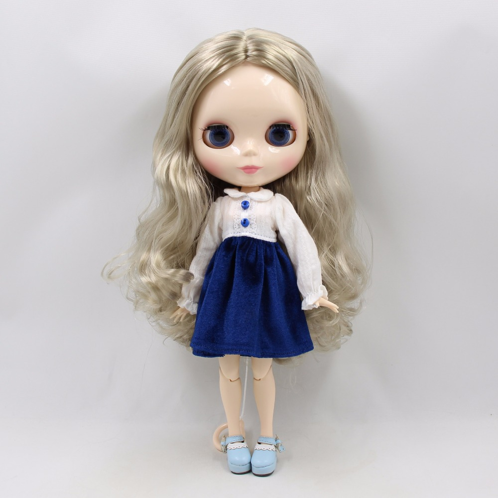 Fabryka blyth doll bjd srebrne włosy biała skóra wspólne ciało 30cm 1/6 230BL3167 w Lalki od Zabawki i hobby na  Grupa 2