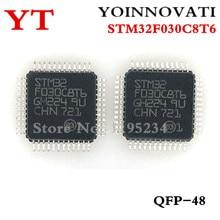50 pièces/lot STM32F030C8T6 32F030C8T6 LQFP 48 IC meilleure qualité.