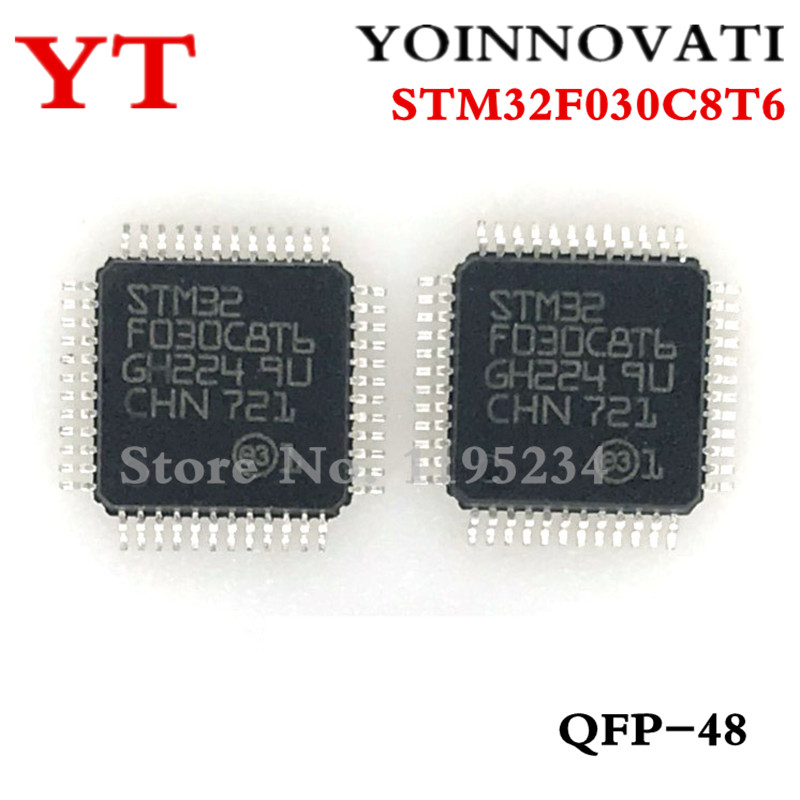 50pcs/lot STM32F030C8T6 32F030C8T6 LQFP-48 IC Best Quality.