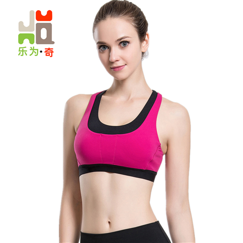 2018 New Women Cross Design Sports Bra Push Up Shockproof Vest Tops with Padding for Running Gym Fitness Jogging Yoga Shirt