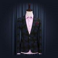 送料無料2015新しい早春ファッション男性スリムスーツカジュアルシングルボタンフルスリーブマンブレザープラスサイズ卸売価