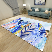Simplicity Nordic Style Printed Carpets for Living Room Decor Rug High-Quality Modern Home Area Rugs Geometric Pattern Carpet