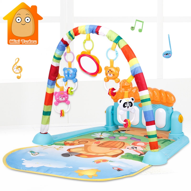 Baby Play Mat Kids Rug Educational Puzzle Tapis Carpet With Piano Cute Animal Playmat Baby Crawling Activity Gym Toys