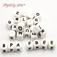 26pc Baby Teether Beads Silicone Teething Toys Bpa Free Silicone Bead For DIY Baby Teething Necklace Alphabet English Letter