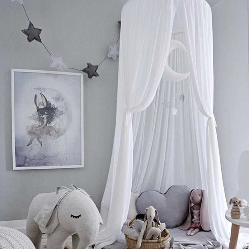Nordic Kids Room Wall Fantasy Hanging Mantle Nets Tents Decor Baby Bed Decorations Photography Props Best Christmas Gifts