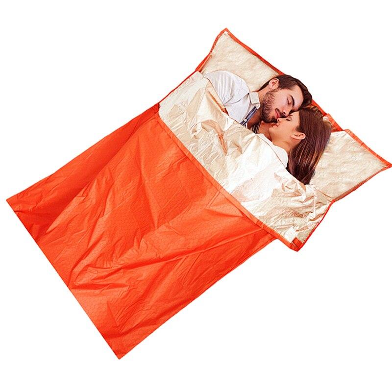 Double Emergence Sleeping Bag Lightweight Waterproof Sleeping Bag Tourism Reflection Warm Thermal Survival Blanket Sleeping Bag
