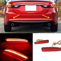 Rear Foglight Assembly For MAZDA 6 2016 2015 2014 2pcs Tail fog lamp Rear bumper lights with turn signals Car Accessories