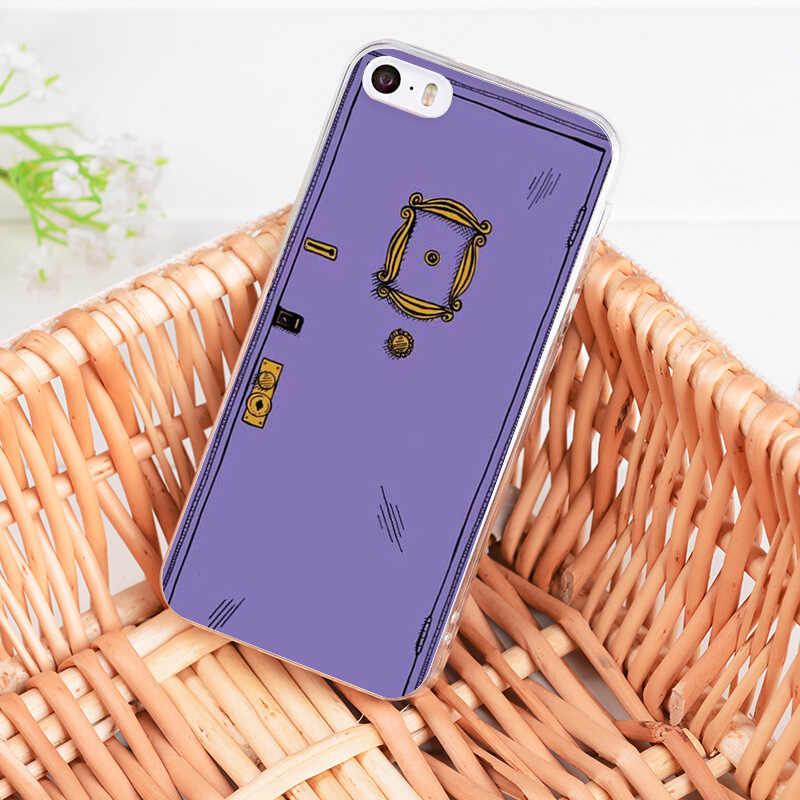 MaiYaCa ل iphone 11 برو 7 6 X حالة الأصدقاء التلفزيون سلسلة الباب شفافة جراب هاتف ل iphone 11 برو 8 7 6 6S زائد X 5 5S SE 4S