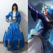 LOL Ashe Cosplay dress Queen Ashe Version Cosplay Costume Halloween Costumes Custom Made Any Size
