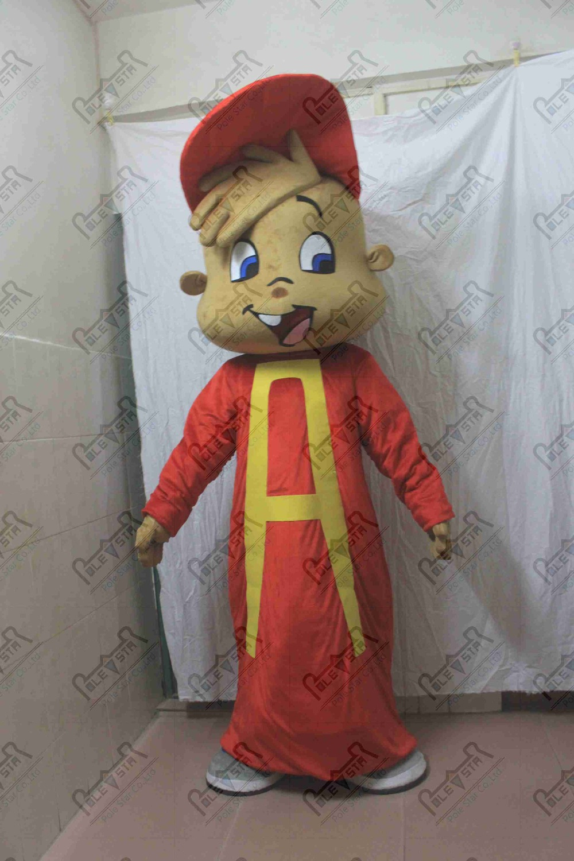 Характер Элвин маскарадный костюм Бурундук маскарадный костюм