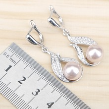 Women Costume Freshwater Natural Pearl 925 Silver Jewelry Sets