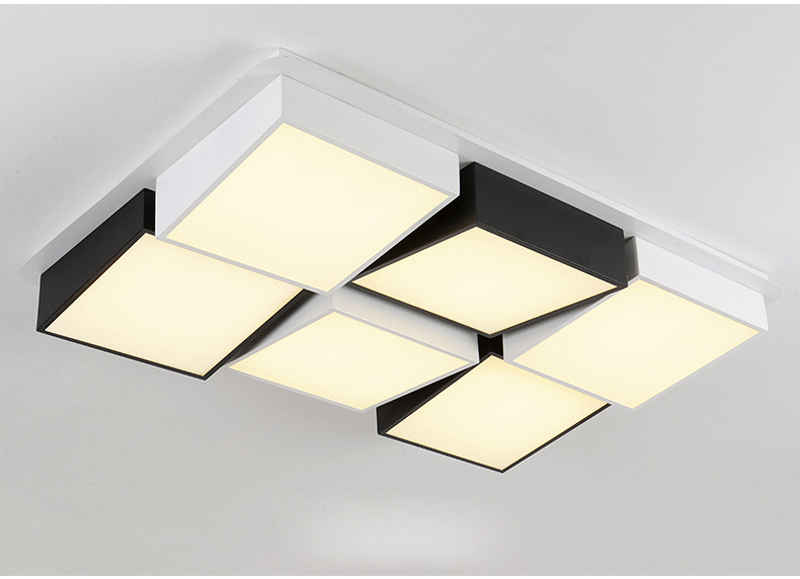 Creative square ceiling lamp flush mount ceiling light abajur para creative square ceiling lamp flush mount ceiling light abajur para sala iluminacion led techo plafonnier salle de bain in ceiling lights from lights aloadofball Images