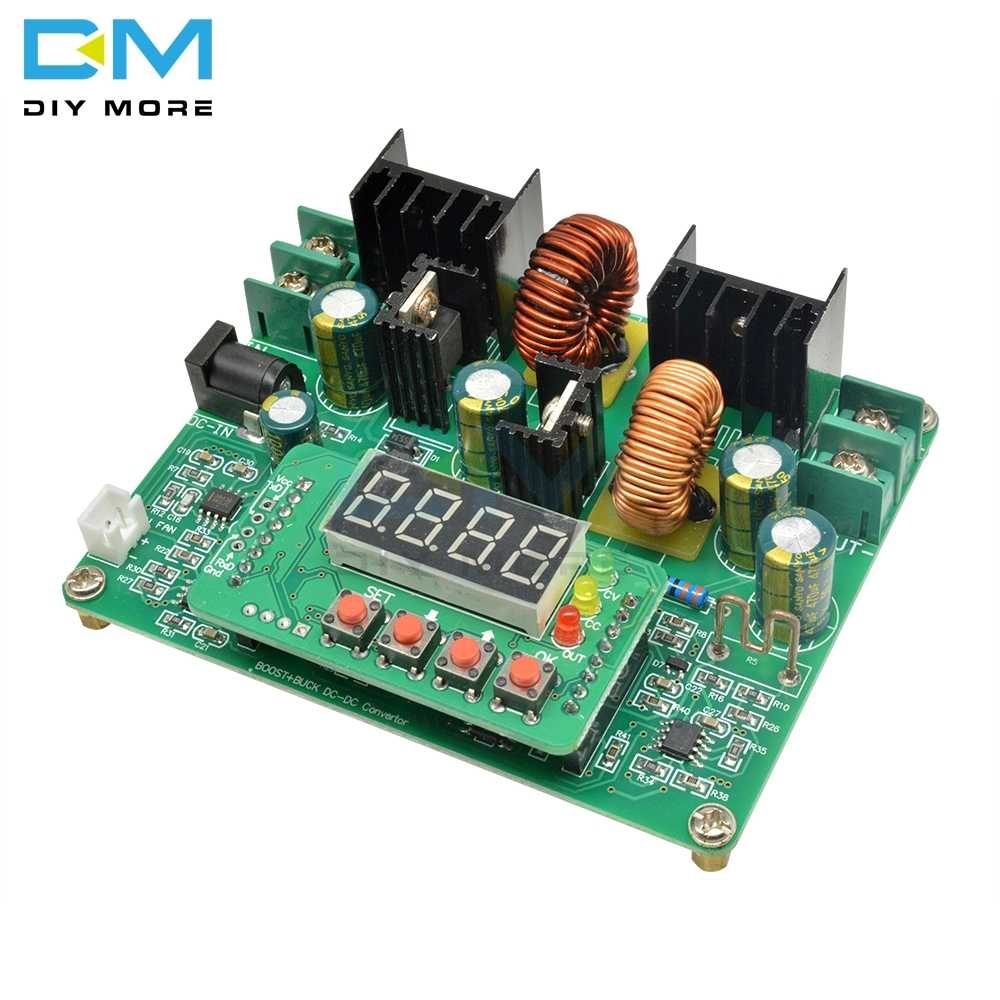 DC-DC Cc Cv 38V Digitale Led Step Up Down Module Boost Buck Converter Zonne-energie Opladen Diy Elektronische Pcb Board microprocessor