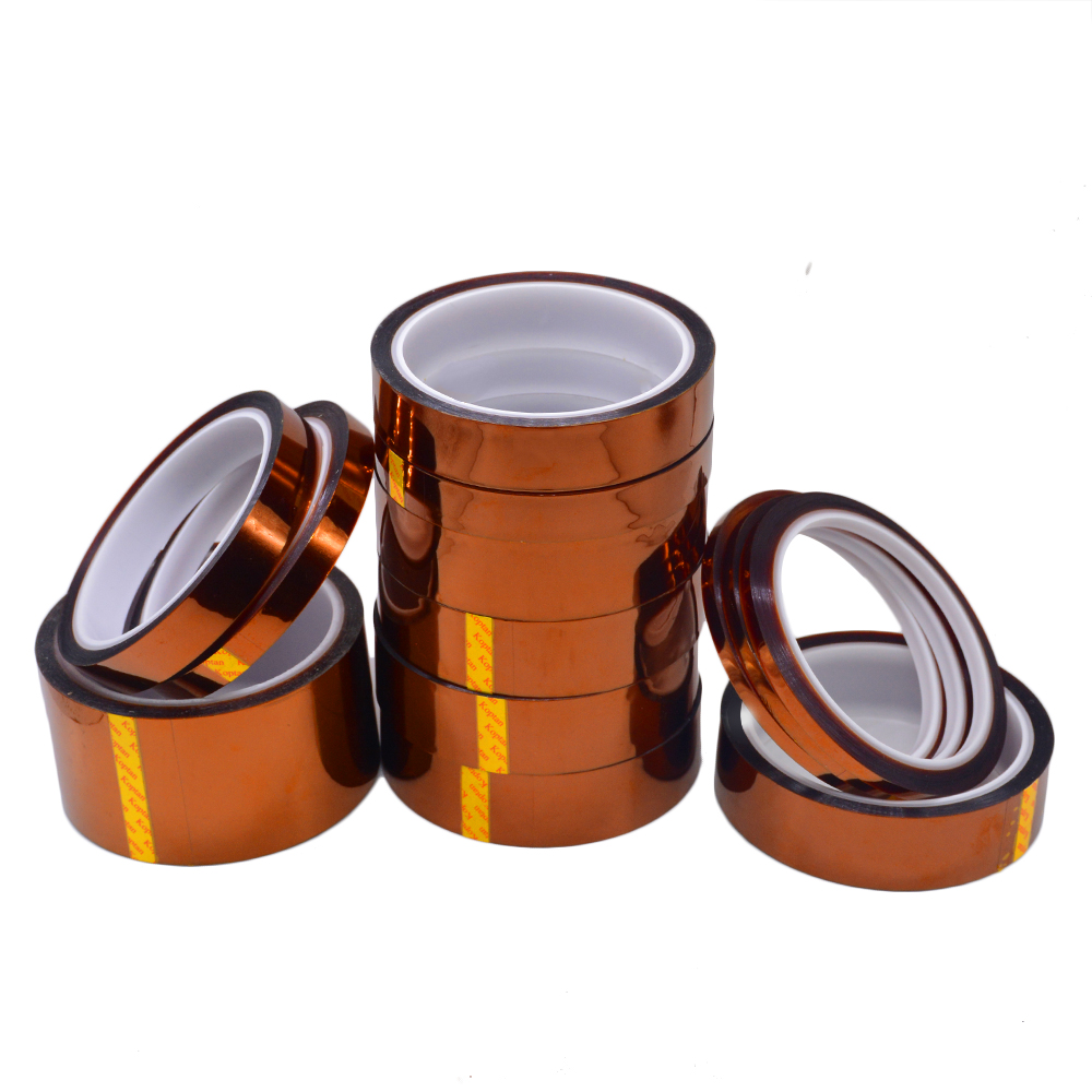 1PC 33M Length Heat Resistant Polyimide Tape High Temperature Adhesive Insulation Tape 3MM 5MM 8MM 10MM 12 15 20 25 30 MM Width