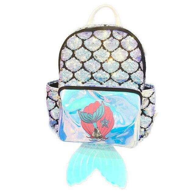 f5d4bf7c3113 US $22.71 40% OFF|Bling Bling Mermaid Tailed Sequins Small Rucksack  Backpack Girls Cute Gift Mini Travel Bag Small Women School Knapsack-in  Backpacks ...