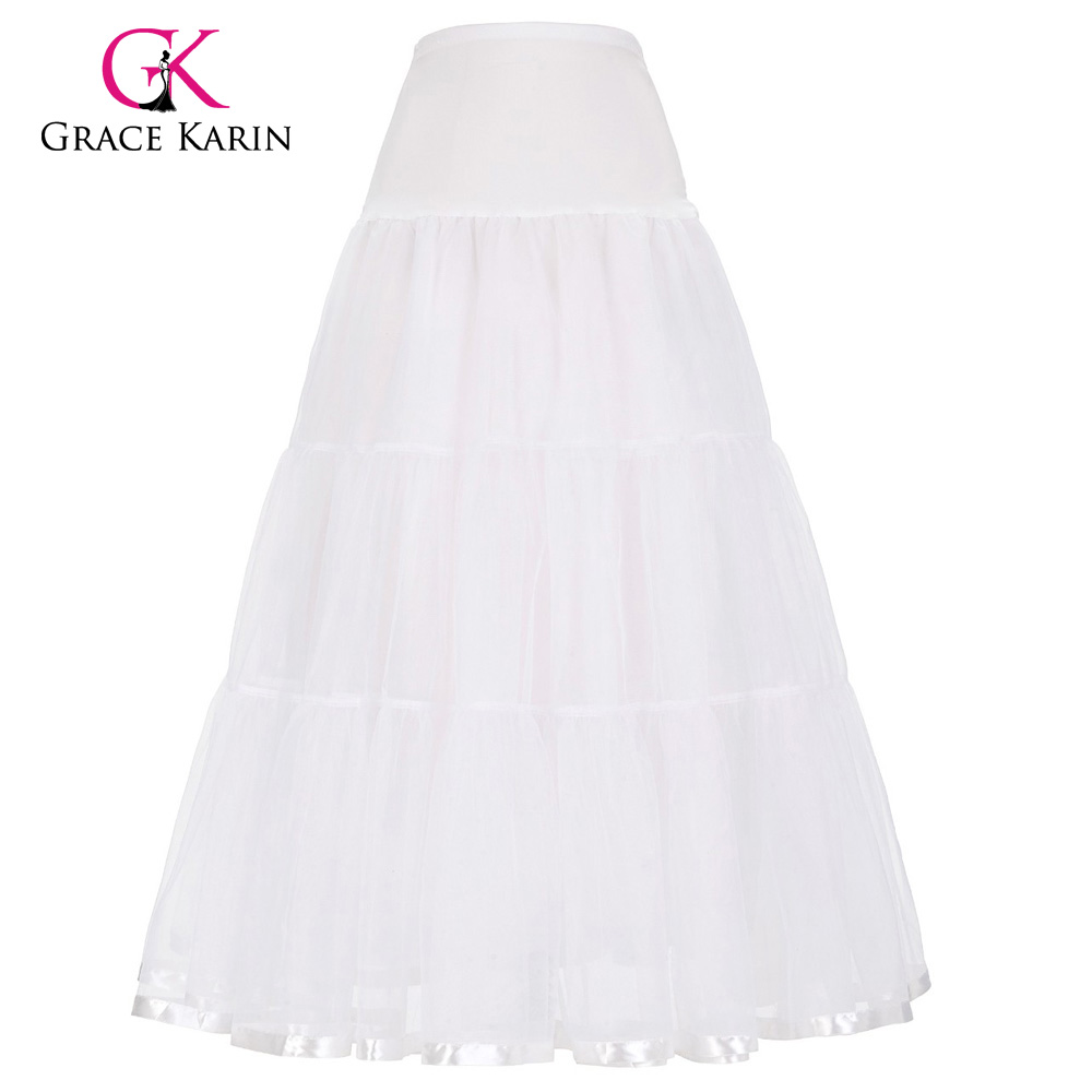 Grace karin petticoat tulle wedding ball gown black white for Tulle petticoat for wedding dress