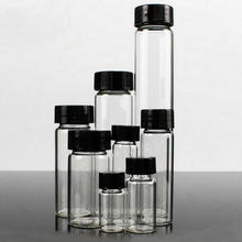 3 мл до 50 мл прозрачные стеклянные пробные Бутылки бутылка эфирного масла лабораторный химический флакон контейнер