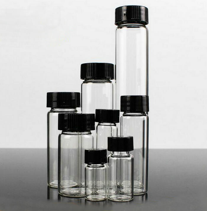 3ml to 50ml Transparent clear Glass sample bottles essential oil bottle Lab Chemistry Vial Container стоимость
