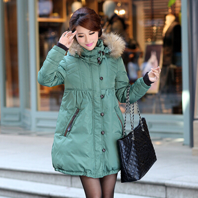 Новинка 2017 года зима большой меховой воротник на утином пуху Пух плюс Размеры Тонкий парка Для женщин длинное пальто женские холодной морозостойкость теплая куртка
