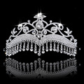 Wedding Engagement Jewelry Tiara Princess Crown Wedding Fashion Bridal Crowns Drop Pendant Crystals Hair Accessories Hairwear