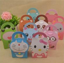 Baby Shower Favor Boxes And Bags Animal Candy Box Boy Girl Kids Birthday Party Candy Boxes Paper Gift Box Event Party Supplies cheap Paperboard Christening Baptism Back To School Children s Day Cartoon animal 9x6x13cm movie character 0 7-0 9M