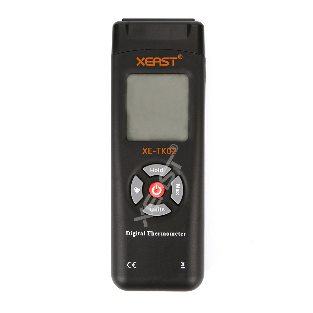 XEAST XE TK02 Digitalthermometer 2 Kanal K Thermoelement Typ draht ...