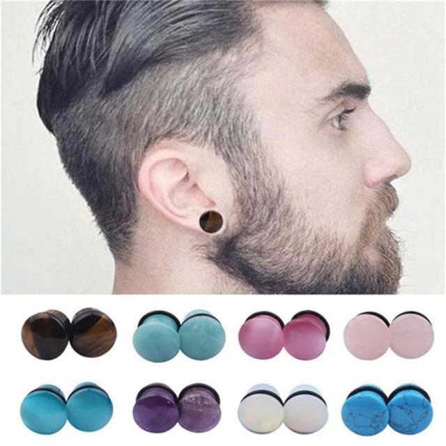 Us 1 48 Opalite Stone Ear Plugs Gauges Earrings Women Men Ear Plug Flesh Tunnel Piercing Expander Ear Stretcher Body Piercing Jewelry In Body