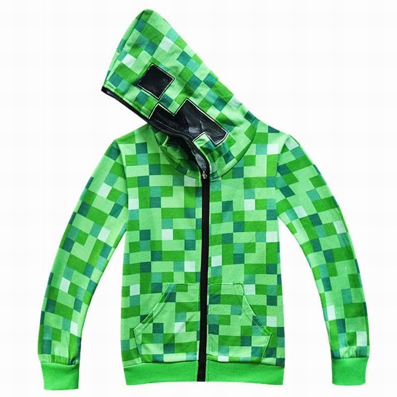 1c1b07b71 Minecraft kostiumy dla dzieci chłopcy bluzy z kapturem płaszcz bluza  kostium na Halloween dla kurtka dla