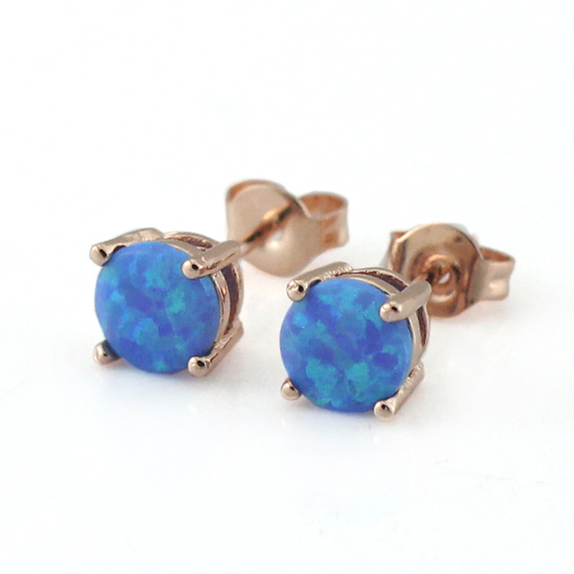 round junxin fire sterling women jewelry silver of opal cut stud earrings