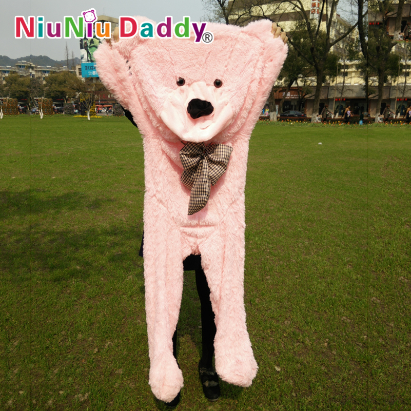 Niuniu Daddy 160cm/63 inch,Plush Bear Skin, hug the bear ,Semi-finished bear, Bear Skin,5 color can choose,Free Shipping мех медведя joyfish bear with color tips