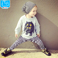 Retail 2016 Spring Infant Clothes Baby Clothing Sets Kids Boy Cotton Long Sleeve T-shirt + Pant 2pcs Baby Girl Clothes