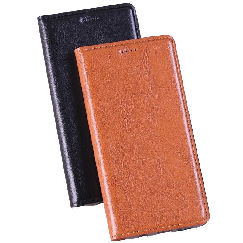 imágenes para Caja Del Cuero genuino para Xiaomi Redmi 4X flip stent card slots TPU base de tabby Clásico Genuino funda de Piel cubierta de bolsa