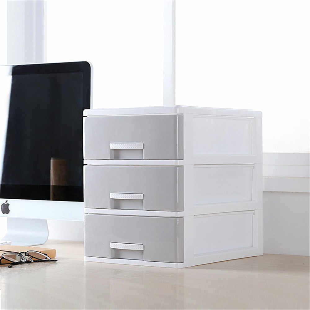 Минималистский пластиковый лоток для хранения серый белый стол ящик для хранения Организатор разное контейнер для косметических средств офис Декор