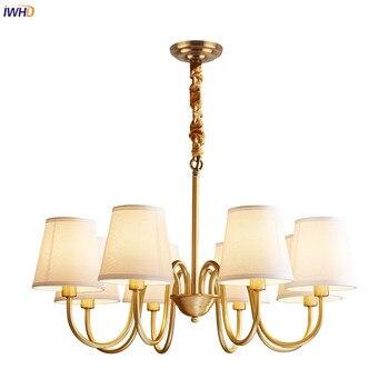 IWHD Amerikanischen Rural LED Kronleuchter Küche Schlafzimmer Esszimmer  Wohnzimmer Lampe Vintage Kupfer Kronleuchter Beleuchtung Lüster LED