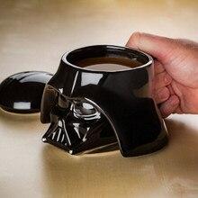 Creativa Negro Blanco Taza De Cerámica 3D de Star Wars de Porcelana Agua Potable Taza de Café Regalo de La Novedad Drinkware