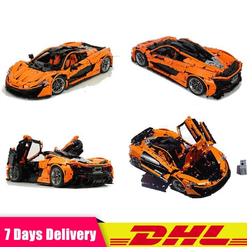 Lepin 20087 3725 pièces technique voiture Orange Super course voiture blocs briques bricolage jouets noël cadeaux Compatible LegoINGlys MOC-16915