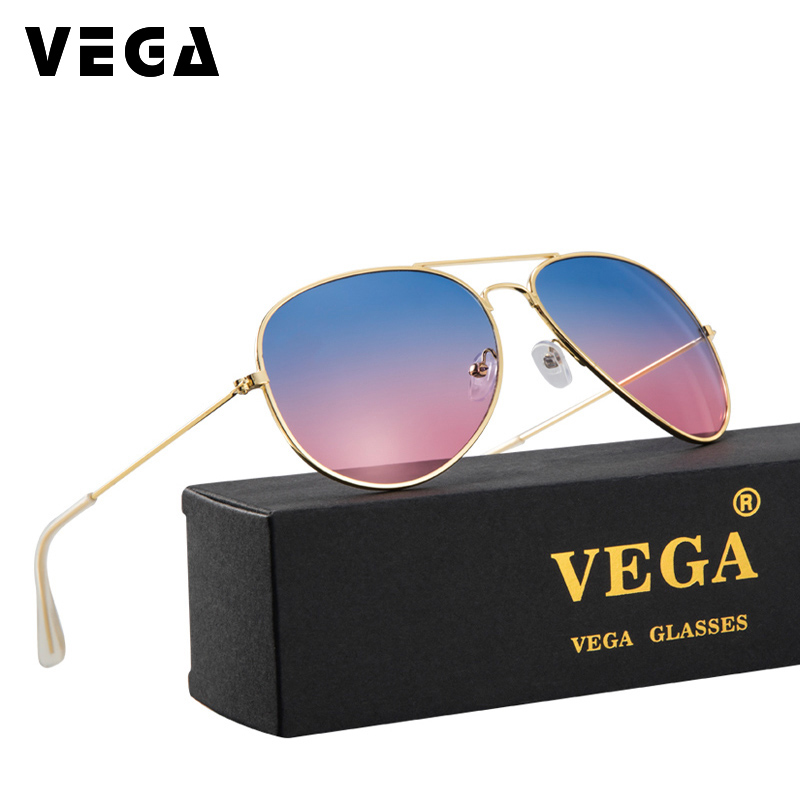 VEGA Men Women Ladies Sunglasses For Lovers Nice Sandy Beach Flat Top Sun Glasses Female Real Summer Eyewear 3025 -3