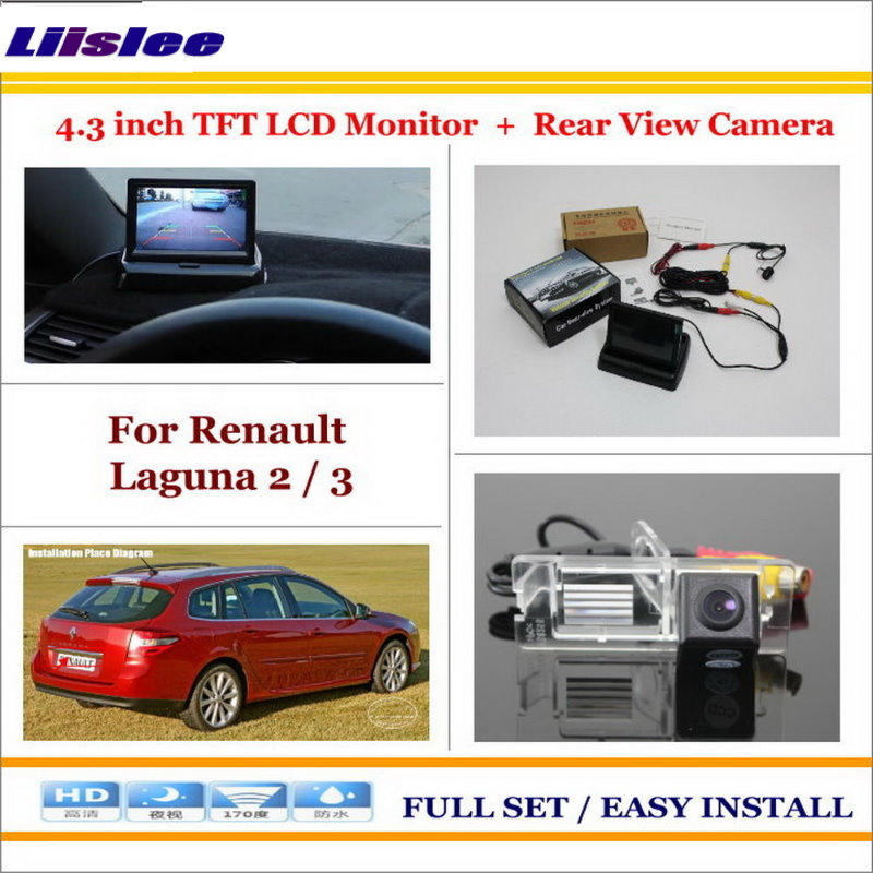Liislee For Renault Laguna 2 / 3 - Car Reverse Rear Camera + 4.3