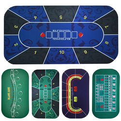 بساط بوكر هولدم تكساس 1.2*0.6 م بساط بمقبس أسود بنرد مصنوع من المطاط المتين للمكتب والمنزل والألعاب