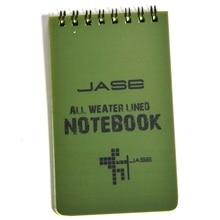 1PCS Тактическая записная книжка Всепогодная всепогодная записная книжка Водонепроницаемая бумага для письма в дождь