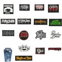 ACID WITCH Deicide SUICIDE SILENCE NECROPHAGIST Panic! At The Disco тяжелый металл музыка Панк-Рок Группа Логотип вышитый Железный на