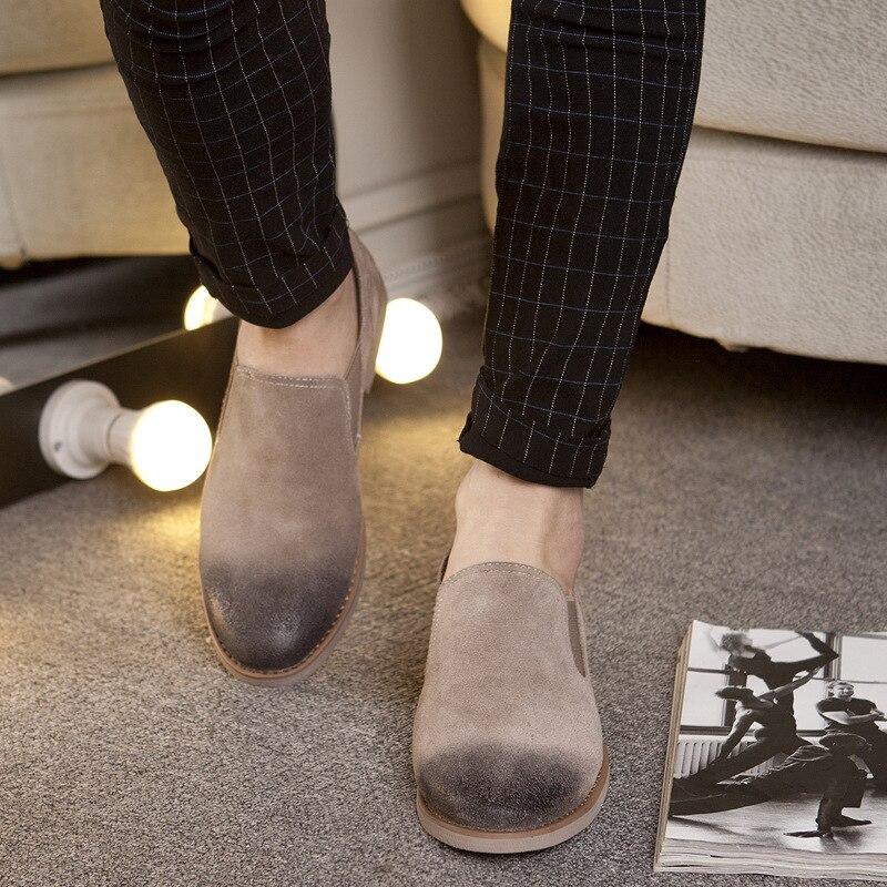 Mocassins Cuir 2018 Slip Conduite Respirant En Homme Appartements Hommes De noir Printemps on Eté rouge Chaussures Mode Beige 2a Nouveau dwXx6q8tX