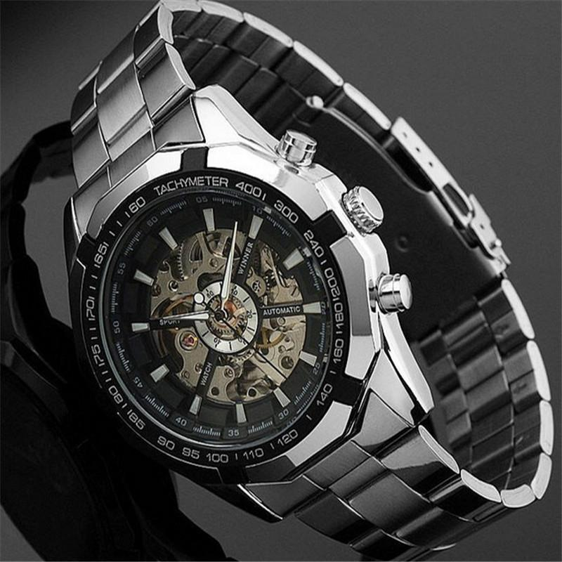 2017 Mens Watches top brand luxury Winner Fashion Skeleton Clock Men Sport Watch Automatic Mechanical Watches Relogio Masculino 2017 winner top brand luxury blue men watch automatic skeleton mechanical wristwatch male man watches hour relogio masculino